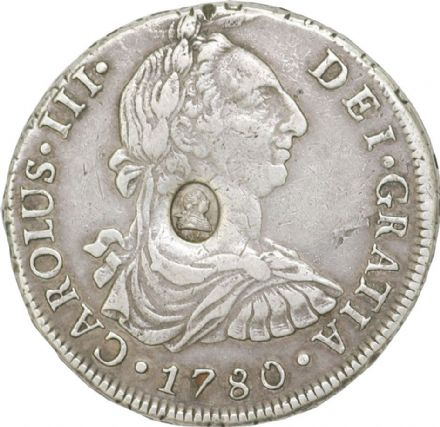 1780 George III Spanish Dollar